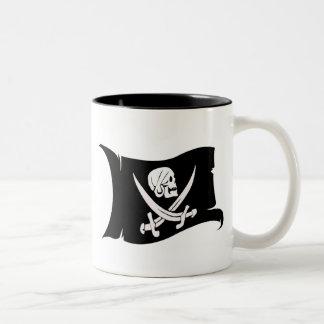 Waving Flag-Pirate Icon #6 Coffee Mugs