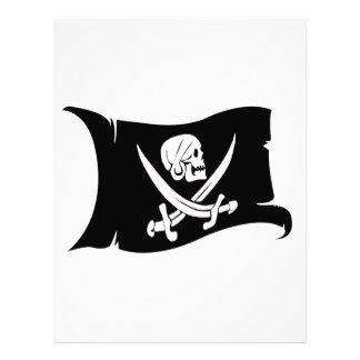 Waving Flag-Pirate Icon #6 Customized Letterhead