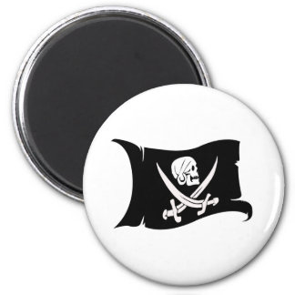 Waving Flag-Pirate Icon #6 Magnet