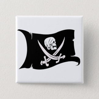 Waving Flag-Pirate Icon #6 Pinback Button