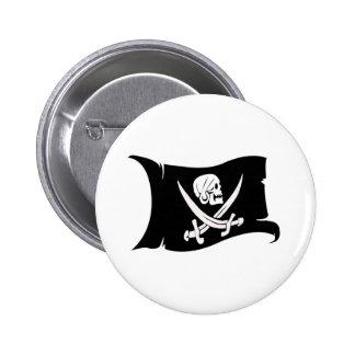 Waving Flag-Pirate Icon #6 Pins