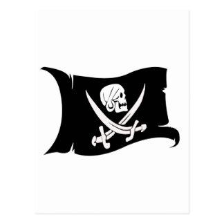 Waving Flag-Pirate Icon #6 Postcard