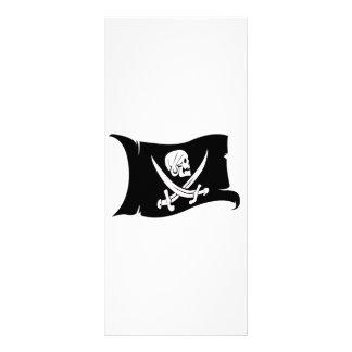 Waving Flag-Pirate Icon #6 Rack Card Design