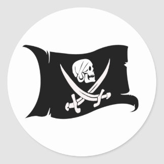 Waving Flag-Pirate Icon #6 Stickers