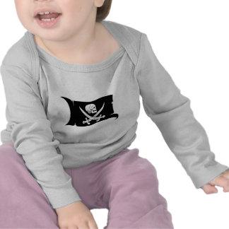 Waving Flag-Pirate Icon #6 T Shirts