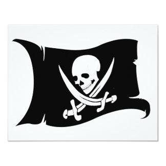 Waving Flag-Pirate Icon #7 4.25x5.5 Paper Invitation Card