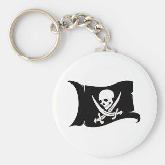 Waving Flag-Pirate Icon #7 Keychain