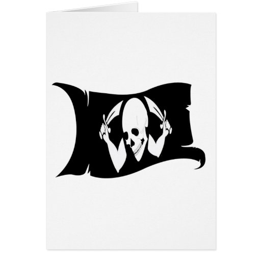Waving Flag-Pirate Icon #8 Greeting Card