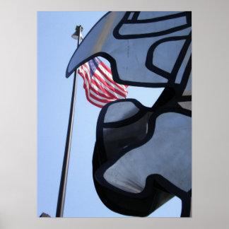 Waving Flag Poster