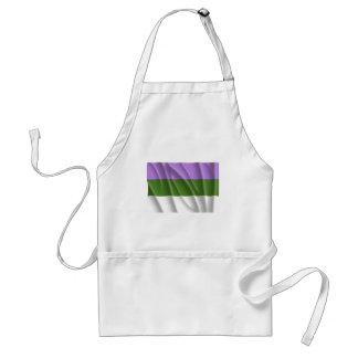 Waving genderqueer pride fl aprons