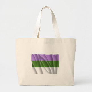 Waving genderqueer pride fl canvas bag