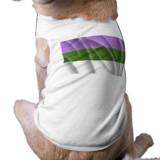 Waving genderqueer pride fl doggie tshirt
