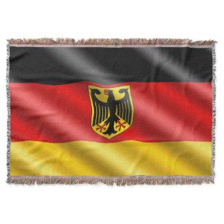 Waving Germany flag Throw Blanket