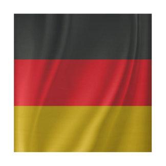 Waving Germany flag Wood Wall Art
