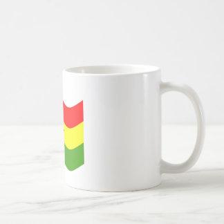 Waving Ghana Flag Classic White Coffee Mug