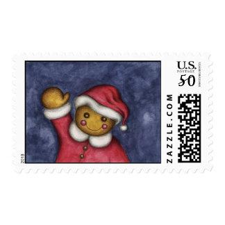 Waving Gingerbread Postage