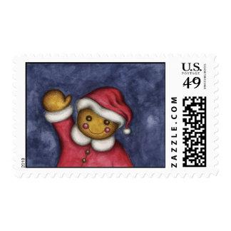 Waving Gingerbread Stamp