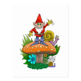 Waving Gnome.jpg Postcard