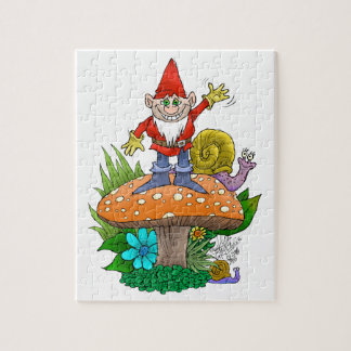 Waving Gnome puzzle.jpg Jigsaw Puzzle