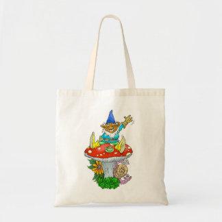 Waving gnomes bag. tote bag