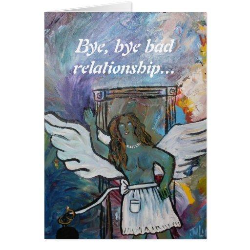Waving Goodbye to bad relationship card