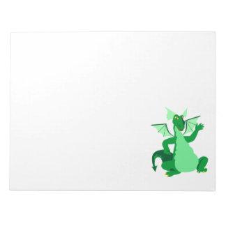 Waving Green Dragon Memo Pad