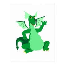 Waving Green Dragon Postcard