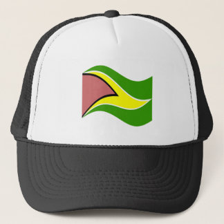 Waving Guyana Flag Trucker Hat