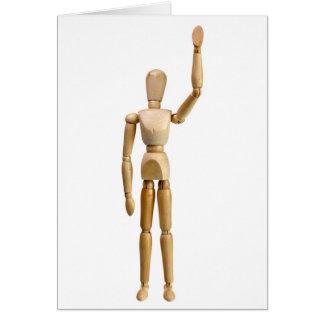 Waving hand card