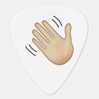 Waving Hand Sign - Emoji Guitar Pick
