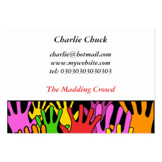 Waving Hands Business Card