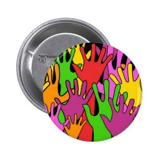 Waving Hands Pinback Button