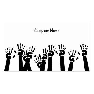 Waving Hands, Company Name Double-Sided Standard Business Cards (Pack Of 100)