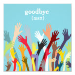 Waving hands - Farewell Party Invitation