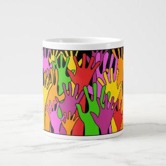 Waving Hands Large Coffee Mug