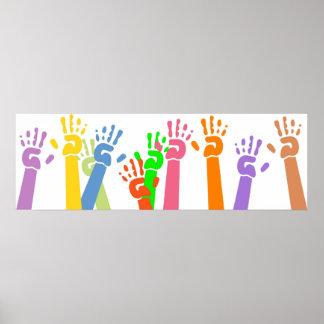 Waving Hands Poster
