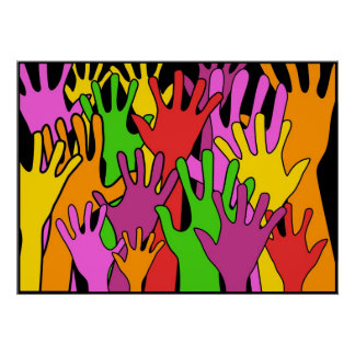 Waving Hands Posters