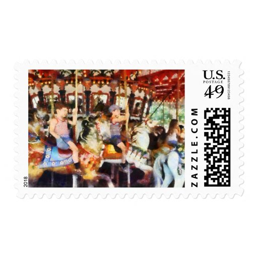 Waving Hi From the Merry-Go-Round Stamps