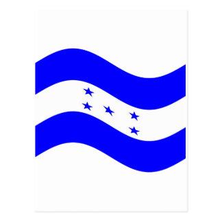 Waving Honduras Flag Postcard