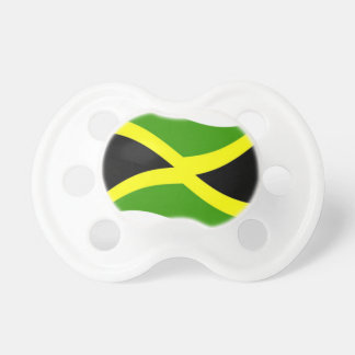 Waving Jamaica Flag Baby Pacifier