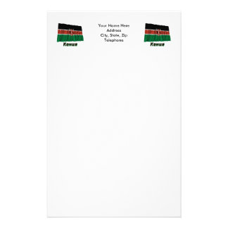 Waving Kenya Flag with name in Russian Stationery