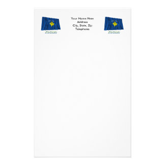 Waving Kosovo Flag with name in Russian Stationery