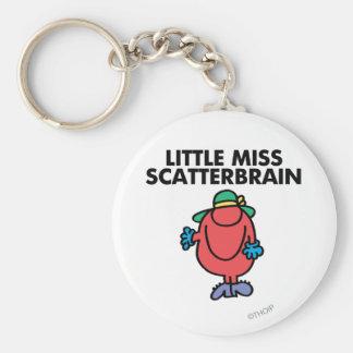 Waving Little Miss Scatterbrain Basic Round Button Keychain