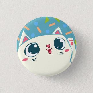 Waving lucky Cat Button