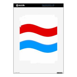 Waving Luxembourg Flag iPad 2 Decal