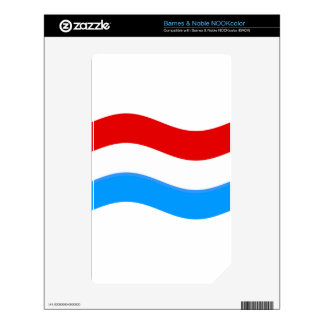 Waving Luxembourg Flag Decals For NOOK Color
