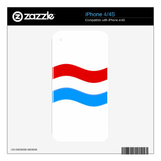 Waving Luxembourg Flag iPhone 4S Decals