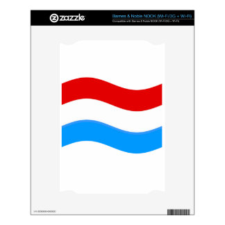 Waving Luxembourg Flag NOOK Skin
