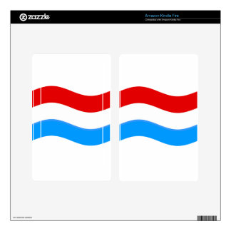 Waving Luxembourg Flag Skin For Kindle Fire