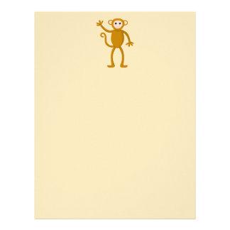 Waving Monkey. Letterhead